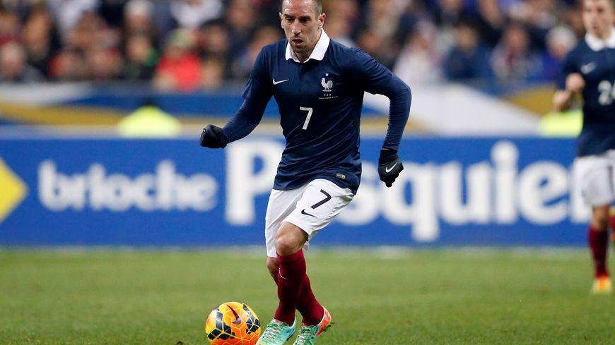 Franck Ribéry avec les Bleus face aux Pays-Bas le 5 mars 2014