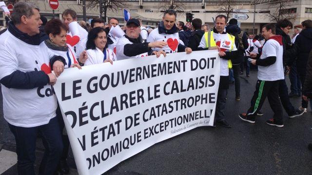 500 calaisiens manifestent à Paris