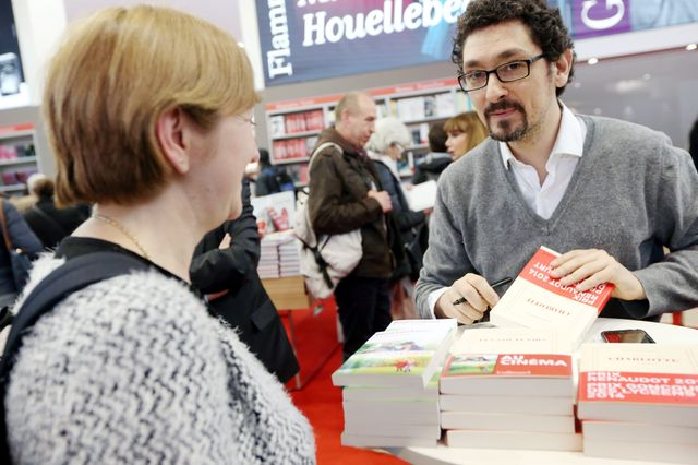 David Foenkinos, au Salon du Livre 2015 à Paris