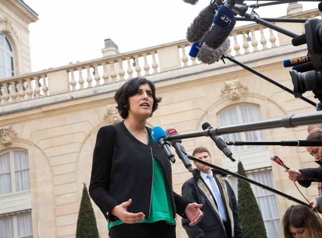 Myriam El Khomri à la sortie du Conseil des ministres le 24 mars 2016