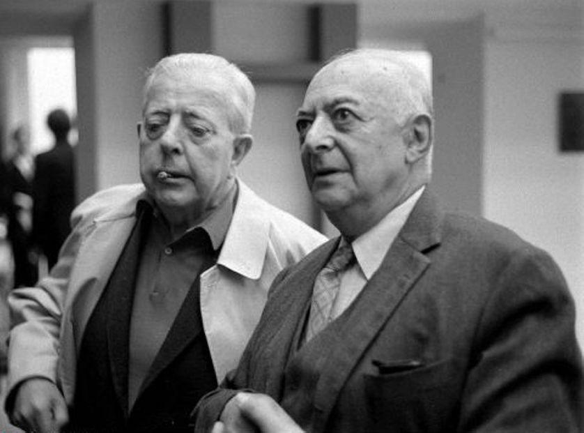 Brassaï avec Jacques Prévert, photo non datée