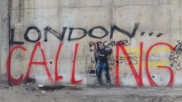London calling bansky Calais