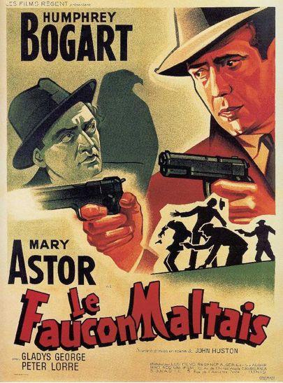 Affiche du Faucon Maltais de John Huston en 1941