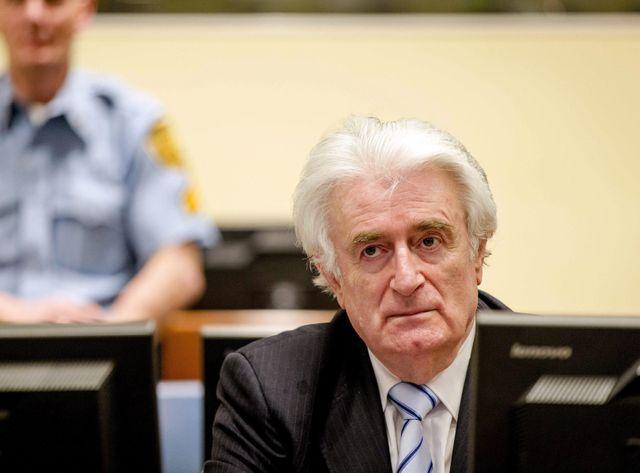 Radovan Karadzic lors du jugement rendu au TPIY