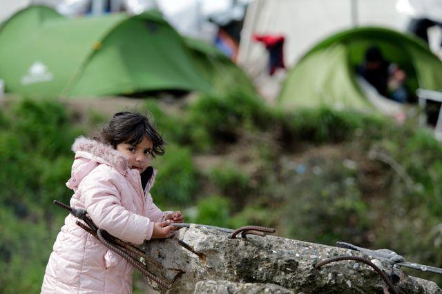 A la frontière gréco-macédonienne le 25 mars