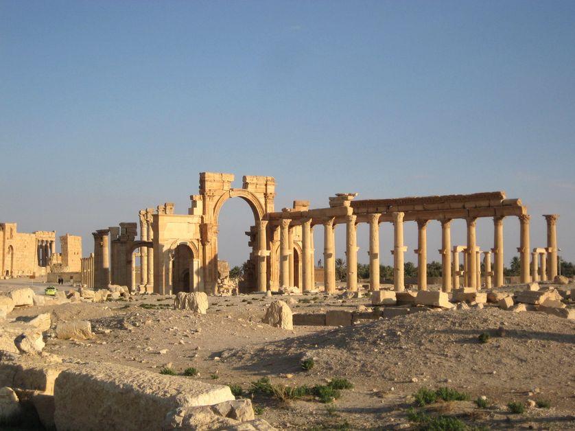 Grand arc et colonnade de Palmyre