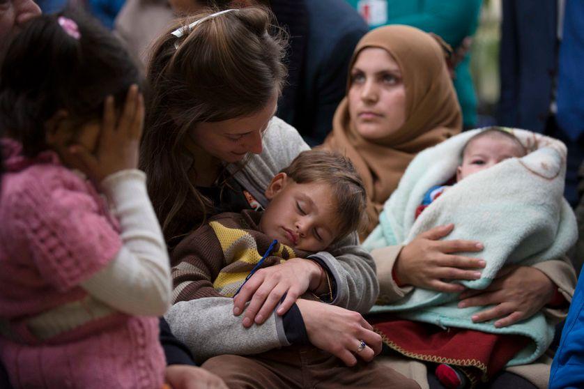 Réfugiés arrivant à Rome