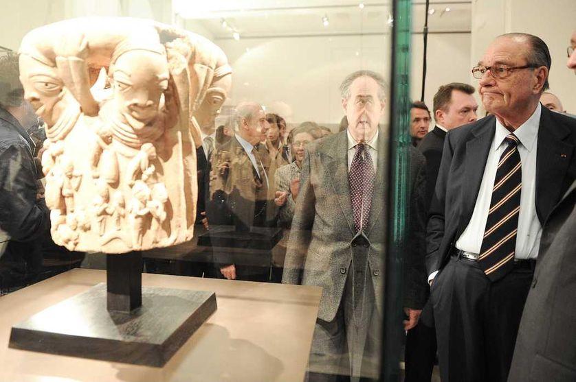 Jacques Chirac au musée du Quai Branly le 13 avril 2010