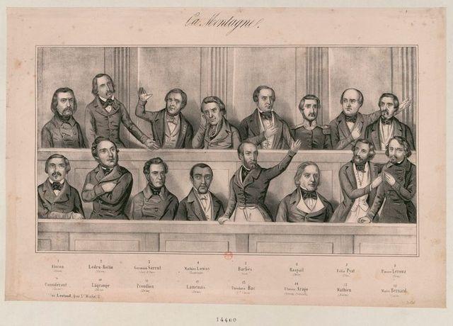 """Membres de """"La Montagne"""" à l'Assemblée constituante de 1848"""