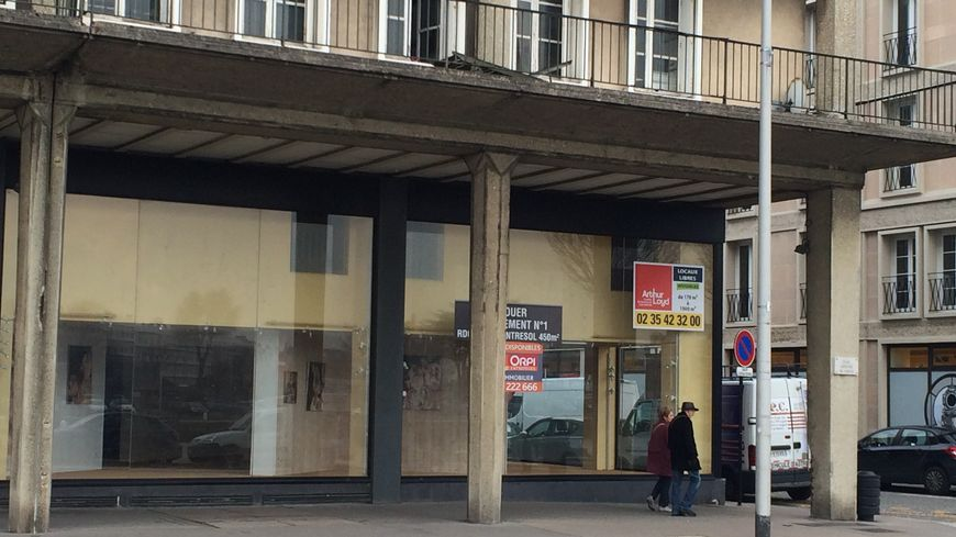 De nombreuses vitrines sont vides en centre-ville du Havre
