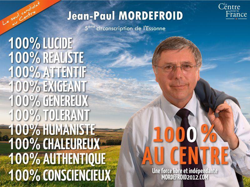 Affiche du candidat Jean-Paul Mordefroid (législatives 2012, Essonne)