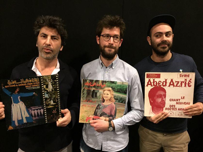 V. Kiswell, Tarafa (Liqid) et Corentin (NIT) au studio 108 & les vinyles syriens