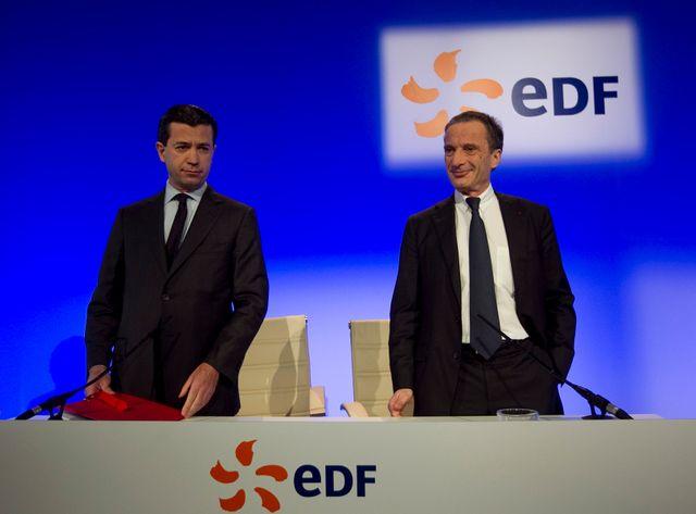 Le directeur financier d'EDF, à gauche, a démissionné.