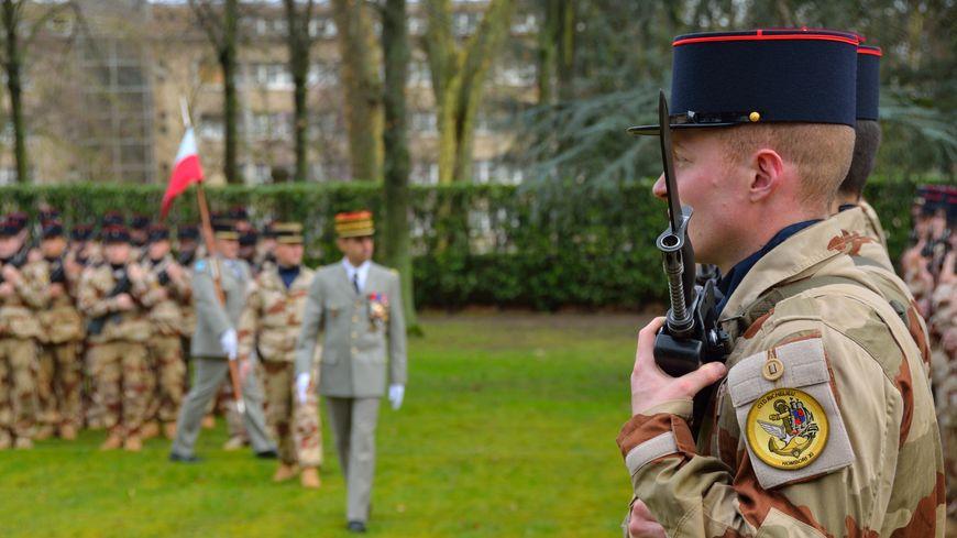 Les militaires du groupement Richelieu étaient réunis une dernière fois au Mans