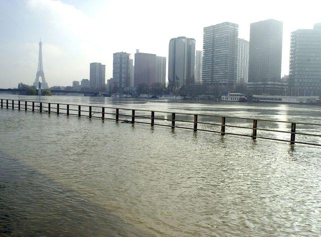 La Seine en crue en 2001