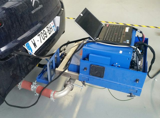 Le PEMS de PSA, qui mesure les émissions pour les tests sur route