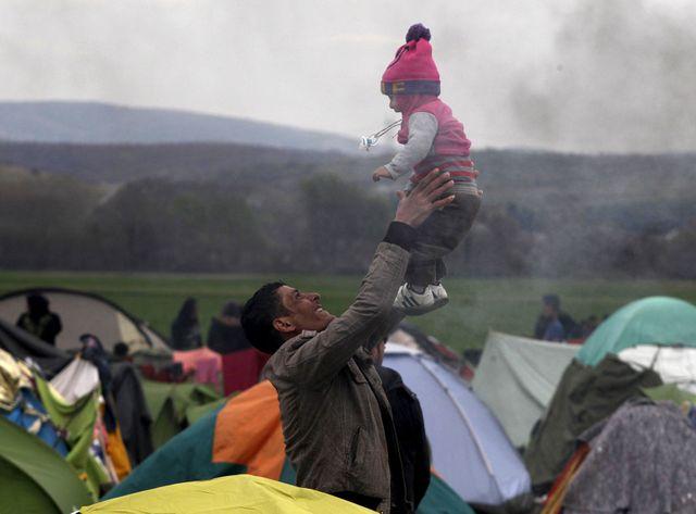 Le camp de réfugiés d'Idomeni à la frontière gréco-macédonienne