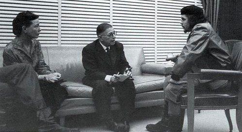 Simone de Beauvoir, Jean-Paul Sartre et Che Gevara à Cuba en 1960