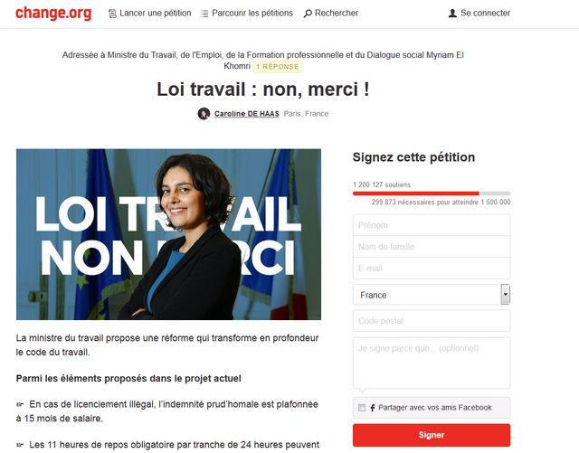 Change.org et sa pétition à plus d'un million de signataires
