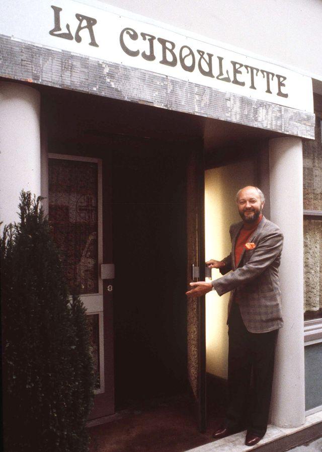 Jean-Pierre Coffe devant La Ciboulette