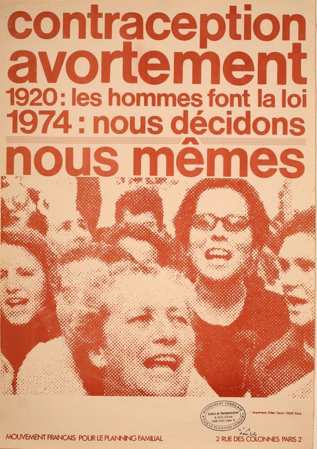 Affiche du Planning Familial en 1974