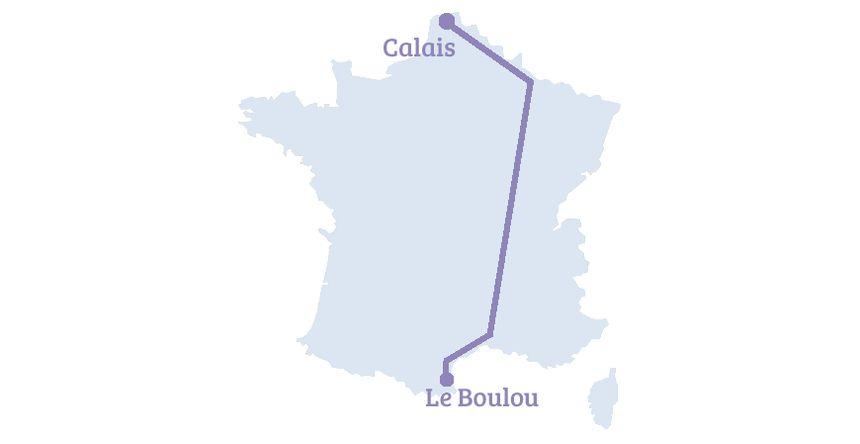 Autoroute ferroviaire de Perpignan à Calais