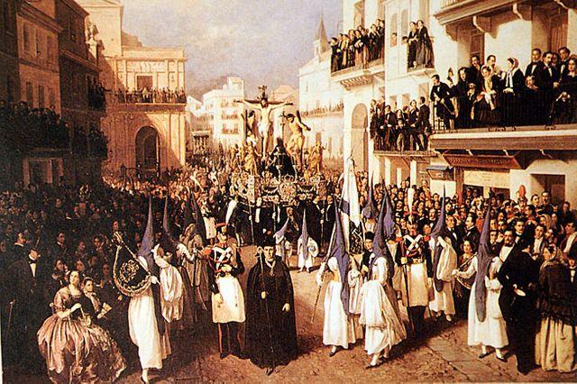 Procession à Séville - Manuel Cabral Aguado-Bejarano - 1855