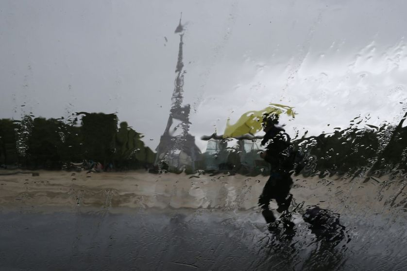 Averse parisienne, en mai 2014
