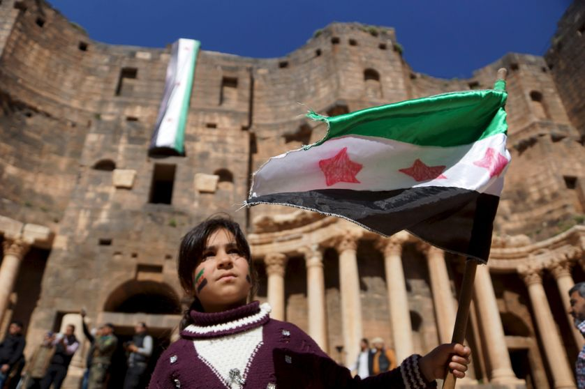 Manifestation à Deraa en Syrie le 4 mars 2016