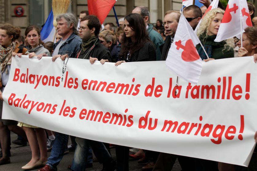 Manifestation contre la loi Taubira autorisant le mariage pour tous. 26 mai 2013