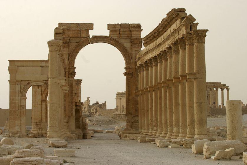 L'arc de triomphe de Palmyre- 2000 ans, depuis détruit par Daesh cet automne