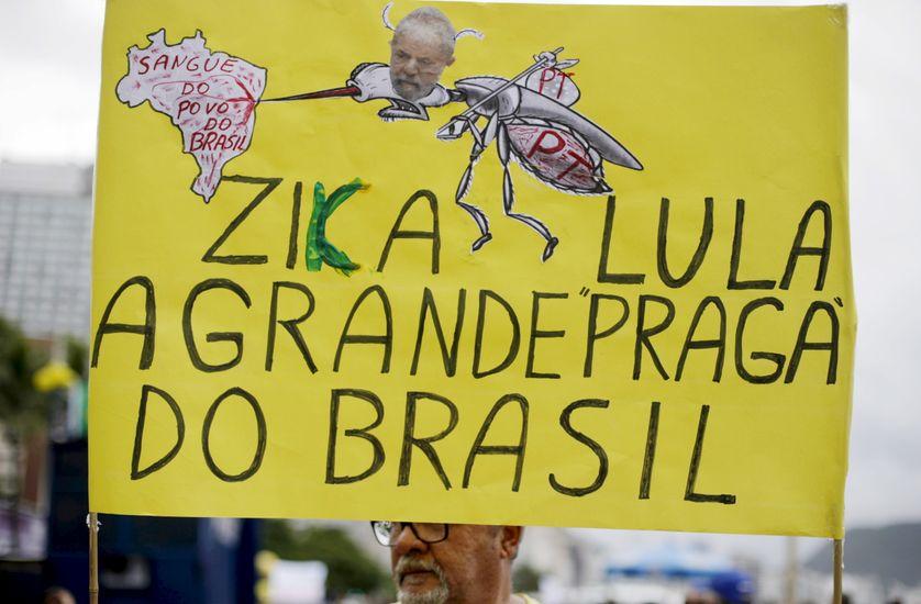 """""""Le virus Lula, la grande peste du Brésil"""", le 13 mars 2016"""