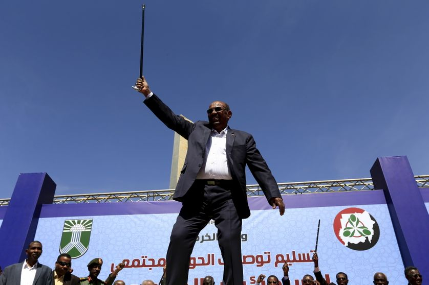 Le président soudanais Omar Hassan Ahmad al-Bashir, le mois dernier