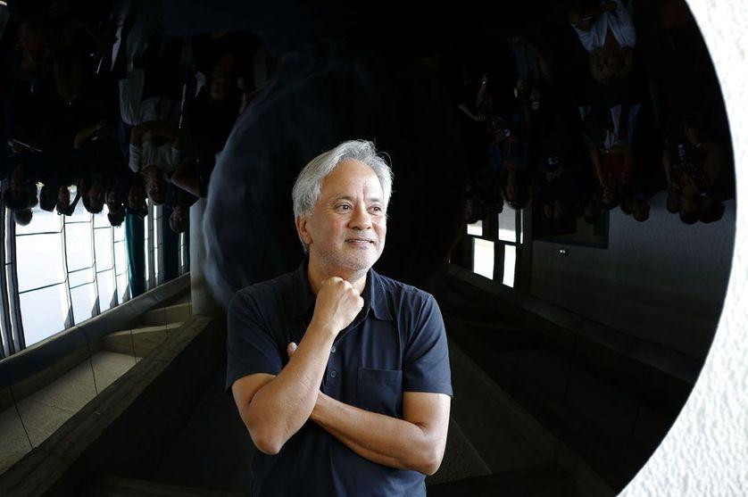 Anish Kapoor au Couvent de la Tourette, dans le cadre de la 13e Biennale de Lyon