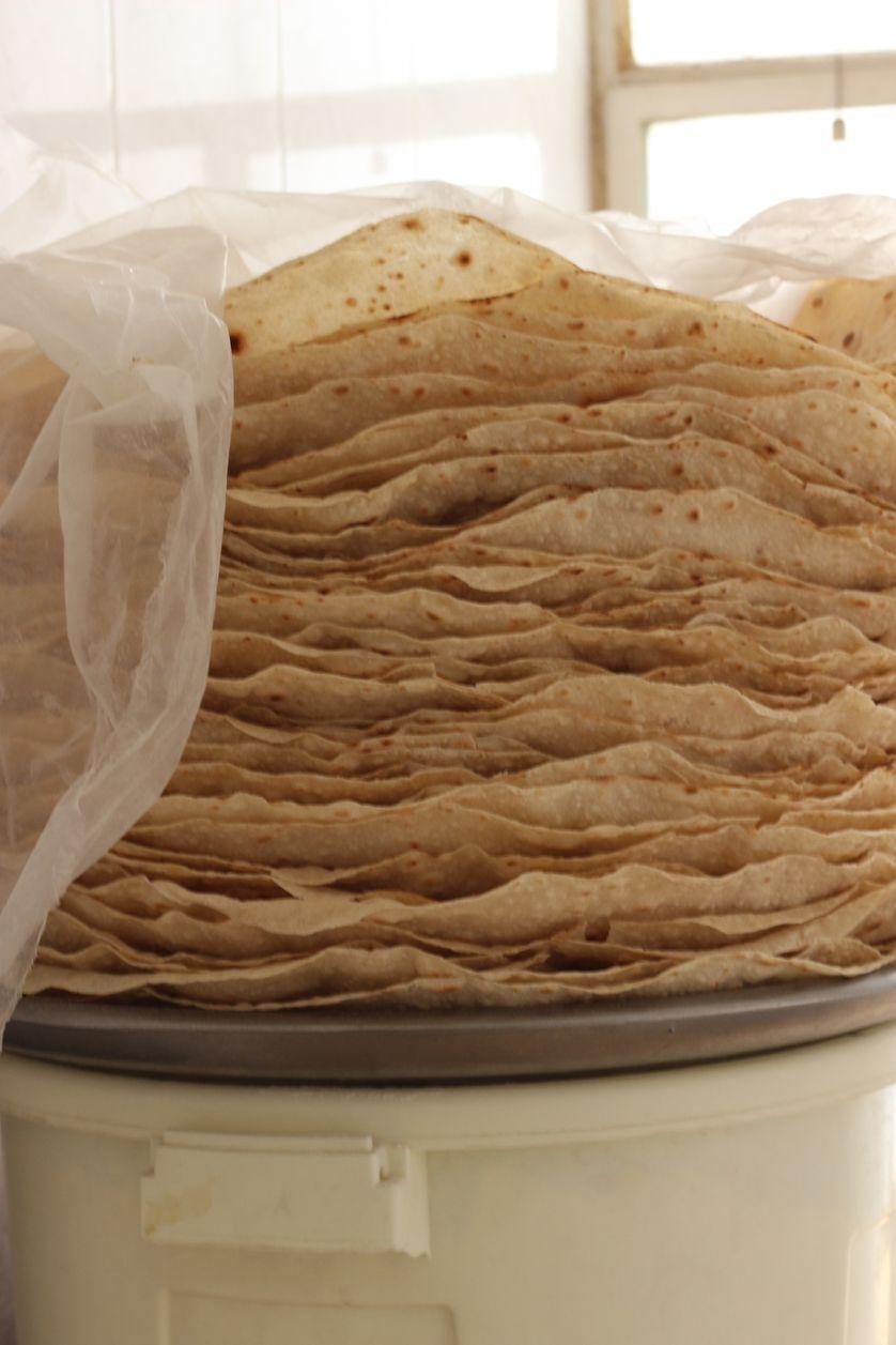 Pain réalisé avec la farine de l'aide alimentaire (Irak)
