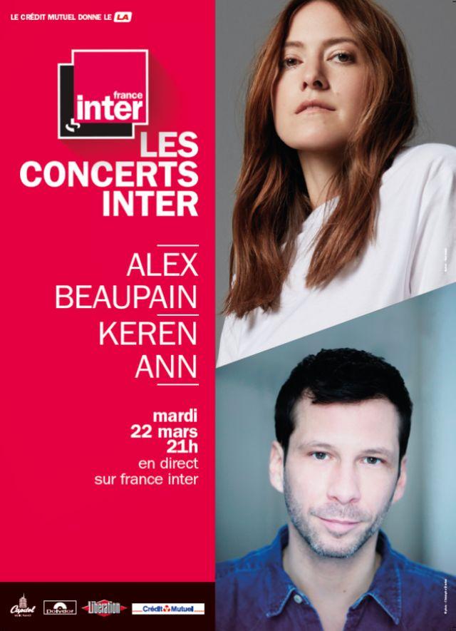 Concert NRV Alex Beaupain et Keren Ann