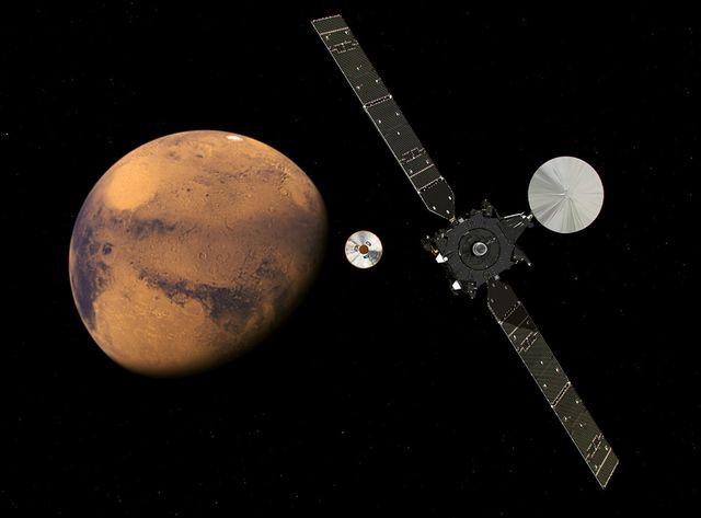 Simulation : Exomars approche Mars