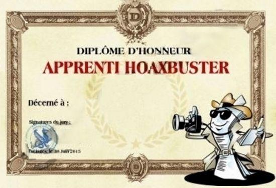 diplôme hoaxbuster