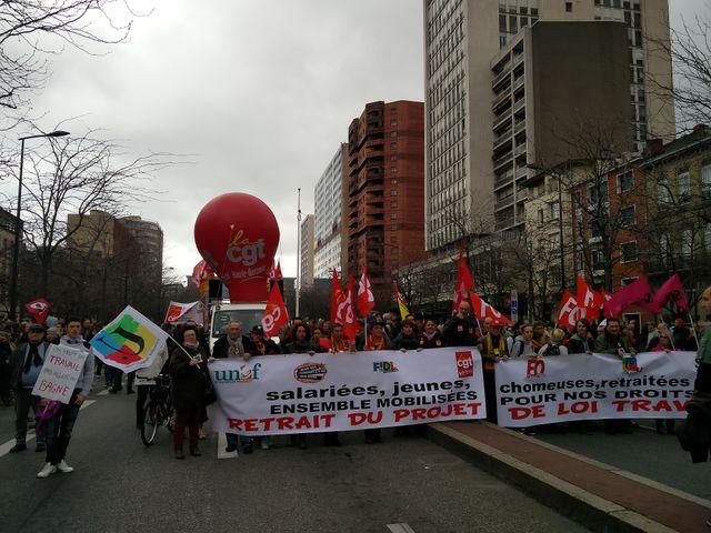 Les manifestants ce jeudi à Toulouse.