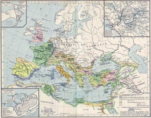 Carte de l'Empire romain