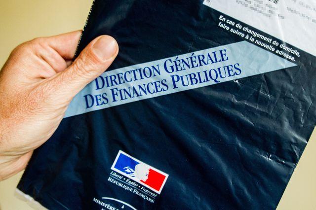 Enveloppe de feuille d'imposition de la direction generale des finances publiques