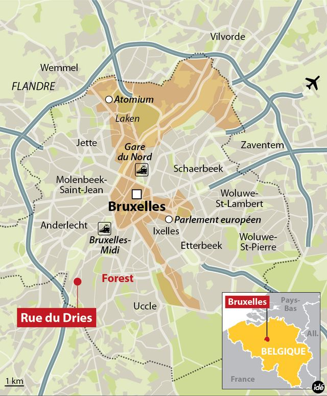 Fusillade dans l'agglomération de Bruxelles à Forest