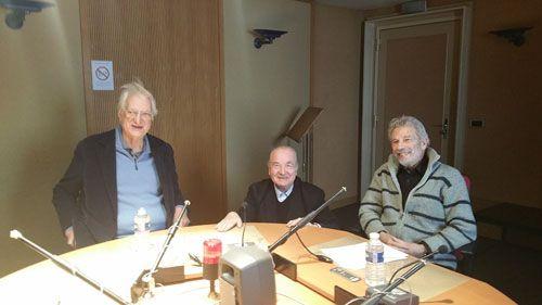 Bertrand Tavernier, Michel Ciment et Claude Aziza au studio 151