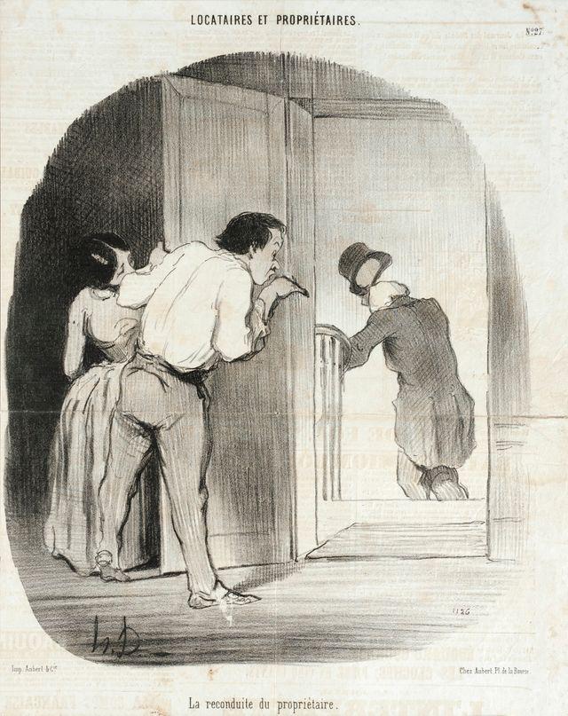 La Reconduite du propriétaire - Honoré Daumier - 1847