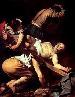 Le Crucifiement de saint Pierre, par Le Caravage, v. 1604.