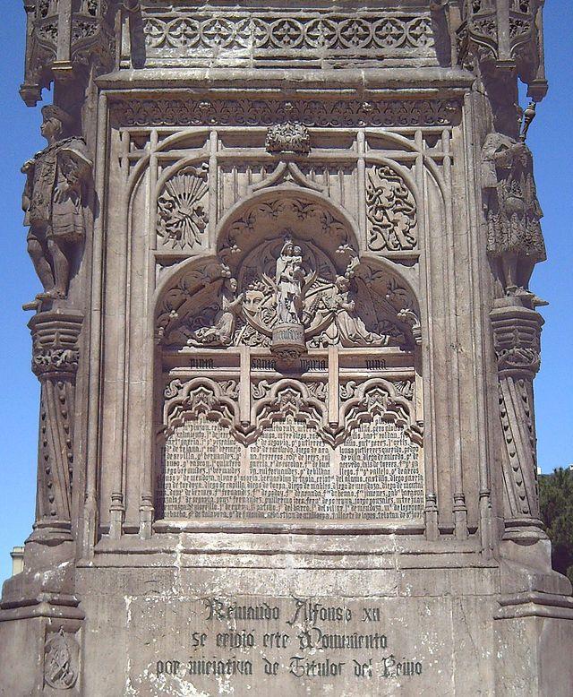 La Virgen del Pilar protége le voyage de Christophe Colomb