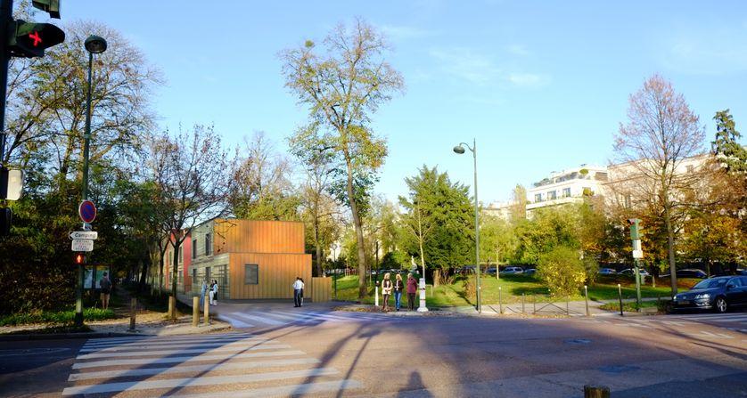 Projet du centre d'hébergement provisoire pour migrants dans le  XVIème à Paris