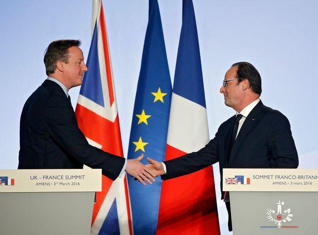 David Cameron et François Hollande réunis à Amiens, au 34e sommet franco-britannique