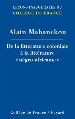 De la littérature coloniale à la littérature négro-africaine