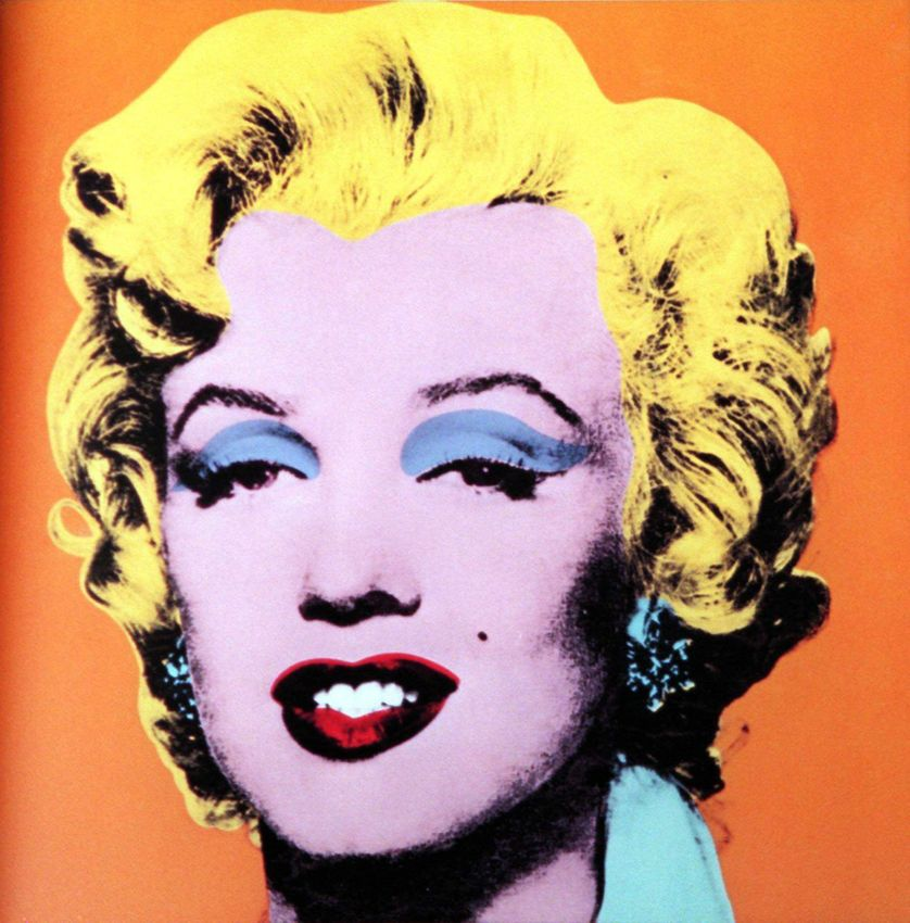 """30 April 1998 by Sotheby's New York shows Andy Warhol's """"Orange"""